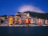 Colorful Buildings on Waterfront of Portovenere, Italy Photographic Print by Julie Eggers