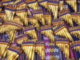 Pan Flutes, Aguas Calientas, Peru Fotoprint van Darrell Gulin