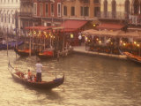 Gondoliers on the Grand Canal, Venice, Italy Photographic Print by Stuart Westmoreland