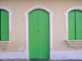 Green Doors and Windows, Gran Roques, Los Roques, Venezuela Photographic Print by Stuart Westmoreland