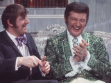 Liberace Pianist Celebrity with Comedian Mike Newman Photographic Print