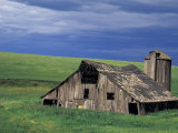 Wooden barn and silo, Lewiston, Idaho Photographic Print by Darrell Gulin