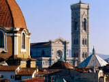 The Campanile Seen Over Rooftops, Florence, Italy Photographic Print by Oliver Strewe