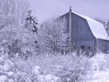 Blue Barn, Rochester Hills, Michigan, USA Photographie par Claudia Adams