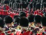 Household Foot Guards March to the Horse Guards Parade for the Trooping the Colour Parade Photographic Print