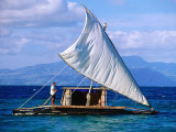 Traditional Sailing Craft, Fiji Fotografie-Druck von Peter Hendrie
