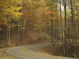 Road Winding Through Autumn Colors, Pine Mountain State Park, Kentucky, USA Photographic Print by Adam Jones