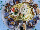 Spaghetti Alla Vongole, Naples, Italy Photographic Print by Jean-Bernard Carillet