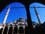 Courtyard of Suleymaniye Camii Mosque, Istanbul, Turkey Photographic Print by John Elk III