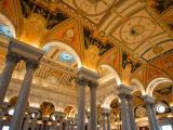 Great Hall of Jefferson Building, Library of Congress, Washington DC, USA Photographic Print by Scott T. Smith