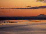 Sunset on Cook Inlet, Turnagain Arm, Alaska, USA Photographic Print by Paul Souders