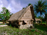 """Faluw"" (Men's Meeting House), Bechiyal Cultural Centre, Bechiyal, Micronesia Photographic Print by John Elk III"
