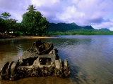 Wreck of WWII Japanese Midget Tank, Lelu Harbour, Micronesia Photographic Print by John Elk III