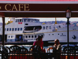 Cafes on Ortakoy Waterfront, Istanbul, Turkey Photographic Print by Phil Weymouth