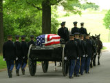 Caisson and Honor Guard on the Way to a Burial Site Photographic Print by Skip Brown