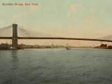 The Majestic Brooklyn Bridge Which Spans the East River Between Manhattan and Brooklyn Photographic Print