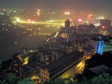 Night View of Chongqing, China Photographic Print by Keren Su