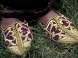 Girl's Embroidered Babouches (Slippers), Morocco Photographic Print by John & Lisa Merrill