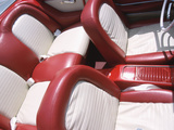 Vintage Red and White Leather Interior of Car Photographic Print