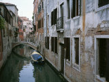 View of a Canal in a Quiet Residential Section of Venice Photographic Print by Taylor S. Kennedy