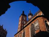 Exterior of St. Mary's Church (Kosciol Mariacki), Krakow, Poland Photographic Print by Krzysztof Dydynski