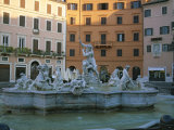 Bernini's Fountain of the Four Rivers in Piazza Navona Photographic Print by Taylor S. Kennedy