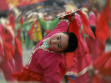 Children Celebrating Chinese New Year, Beijing, China  Lámina fotográfica por Keren Su