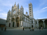 The Cathedral in Siena is a Mixture of Gothic and Romanesque Styles Photographic Print by Taylor S. Kennedy