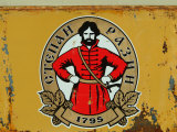 A Logo with Peter the Great Advertising Beer Photographic Print by Richard Nowitz