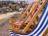 Deck Chairs for Hire on the Beach, St. Ives, United Kingdom Photographic Print by Glenn Beanland