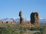 Balanced Rock and Formations Shaped by Erosion, Arches National Park Photographic Print by Taylor S. Kennedy