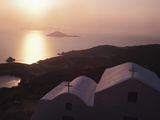 Church at Sunset Greece, Patmos Photographic Print