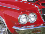Headlight in Red Car Photographic Print
