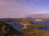 Scenic View of a Crater-Type Lake in the Galapagos Islands Photographic Print by Ralph Lee Hopkins