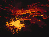 A Lake of Molten Lava Inside the Volcanos Crater Photographic Print by Carsten Peter