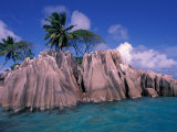 Tropical Shoreline of St. Pierre Islet, Seychelles Photographic Print by Nik Wheeler