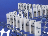 Domino Set Photographic Print