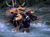 Dragon Boat Race at Miao People's Festival, China Photographic Print by Keren Su