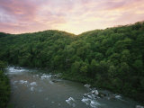 An Elevated View of Youghiogheny River from Ohiopyle State Park Photographic Print