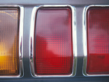 Red and Orange Tail Lights Photographic Print