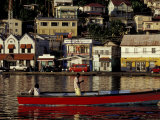 Fisherman in Harbor, St. George, Grenada, Caribbean Photographic Print by Greg Johnston