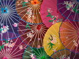 Colorful Silk Umbrellas, China Photographic Print by Keren Su