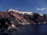 Village of Ia From Ferry, Santorini, Greece Photographic Print by Greg Gawlowski