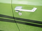 Door Handle of Green Car Photographie