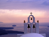 Belltower at Sunrise, Mykonos, Greece Photographic Print by Keren Su