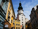 Buildings Near Michael&#39;s Tower in Old Town, Bratislava, Slovakia Photographic Print by Glenn Beanland