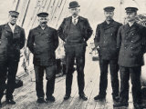 Amundsen and His Team at Hobart Photographic Print