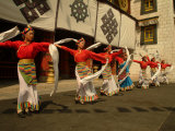 Tibetan Dancers Perform at the Chinese Ethnic Culture Park Photographic Print by Richard Nowitz