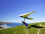 Hang Glider, Otago Peninsula, South Island, New Zealand Photographic Print by David Wall