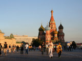 People in Front of St. Basil's Cathedral, Moscow, Russia Photographic Print by Jonathan Smith